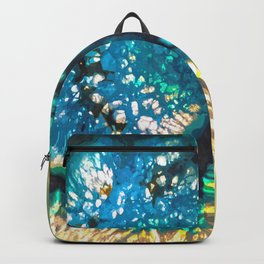 Blue and Yellow Agate Backpack