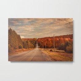 A Road to Autumn Metal Print