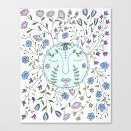 Chanson de la lune bleue Canvas Print