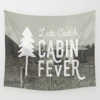 cabin Wall Tapestries featuring CABIN FEVER by cabin supply co