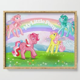 g1 my little pony Galaxy and Flutter ponies Serving Tray