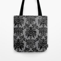 damask Tote Bags featuring DAMASK by pike design