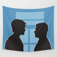 pilot Wall Tapestries featuring Pilot Supernatural (Silhouette Collection) by Salem