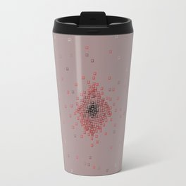 Squares in reds Travel Mug