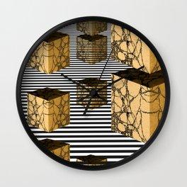 Cube Descension Wall Clock