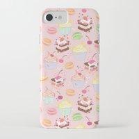 macaroon iPhone & iPod Cases featuring sweet pattern aka cake , cupcake and macaroon by Marta Olga Klara