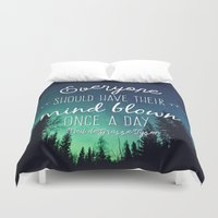 neil gaiman Duvet Covers featuring Inspirational Poster - Neil deGrasse Tyson Quote by Mariah Liisa