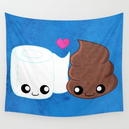The Best of Friends - Toilet Paper and Poop Wall Tapestry