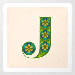 J - Amarilis Art Print