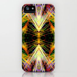 Yellow Bright Rays,Fractal Art iPhone Case