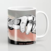 sons of anarchy Mugs featuring Sons of Anarchy - Jax by Averagejoeart