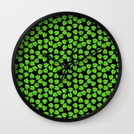 Giant  Bright Neon Green Monstera Tropical Jungle Leaves Wall Clock