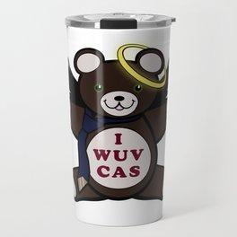 I Wuv Cas Dean Winchester Teddy Bear Travel Mug