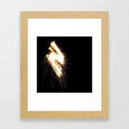 Sparkler Bolt Framed Art Print
