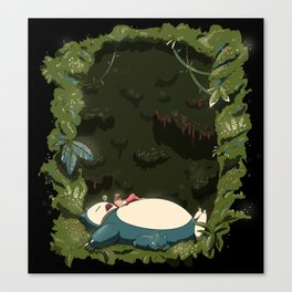 Sleeping with Snorlax Canvas Print
