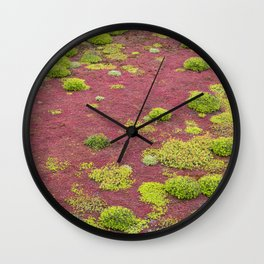 Green and Red Bogmoss Wall Clock
