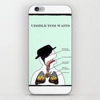 tom waits iPhone & iPod Skins featuring VISIBLE TOM WAITS by Jim Lockey