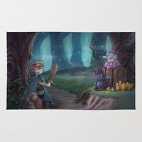 adventure is out there Area & Throw Rugs featuring Adventure by aokstudios
