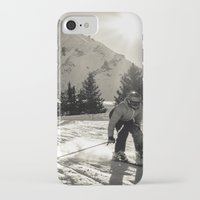 ski iPhone & iPod Cases featuring ski by Sébastien BOUVIER