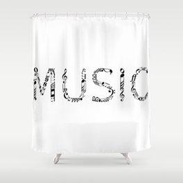 Music typo Shower Curtain