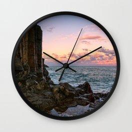 Pastel Coast Line Wall Clock