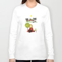 mexican Long Sleeve T-shirts featuring Mexican Villa by Design4u Studio