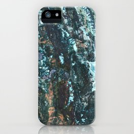 Grungy Marble Stone iPhone Case