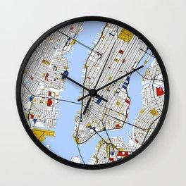 New York City , Map Art Print / Street Map Art Wall Clock