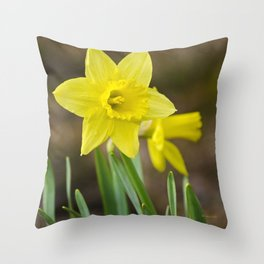 Daffodil Flower Throw Pillow