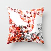 botanical Throw Pillows featuring Botanical by Amy Davis