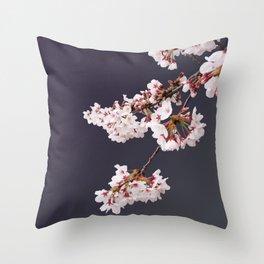 Cherry Blossoms (illustration) Throw Pillow