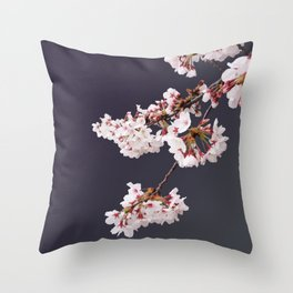 Cherry Blossoms (illustration) Throw Pillow