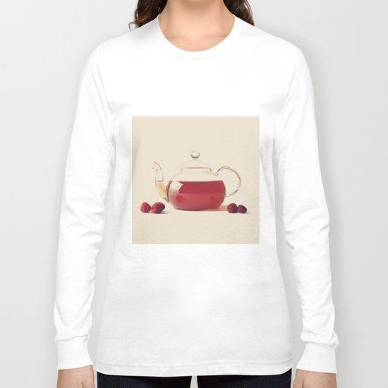 Raspberry Tea (Retro and Vintage Still Life Photography) Long Sleeve T-shirt