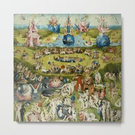 Hieronymus Bosch The Garden Of Earthly Delights Metal Print