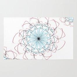 Flower love minimalist Rug