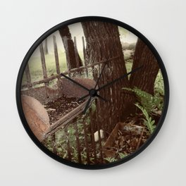Found Country Fence Wall Clock