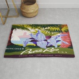Vintage poster - Puerto Rico Rug
