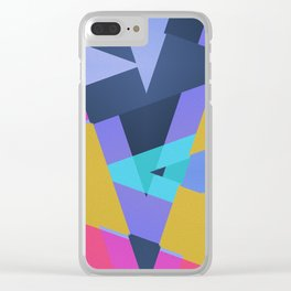 Triangle Round Up Clear iPhone Case