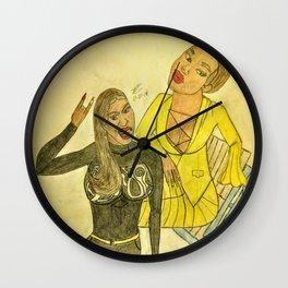 Lil Moe and Sky Fanart Wall Clock