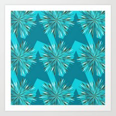 Arrow Bursts in Teal Art Print