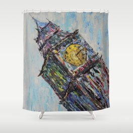 On London Time Shower Curtain