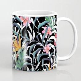 Tropical plants. Flowers and leaves Coffee Mug