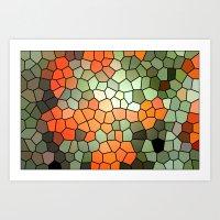 Pattern 6 - Tree Love Art Print