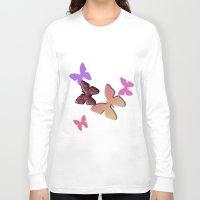 butterflies Long Sleeve T-shirts featuring Butterflies by Judith Lee Folde Photography & Art