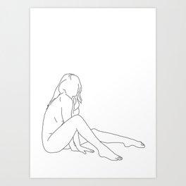 Nude life drawing figure - Bret Art Print