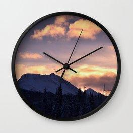 Flat Top Sunrise Serenity Rose Wall Clock