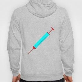 Simple Cartoon Style Hypodermic Needle Hoody