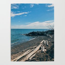 Winter breeze on the beach Poster