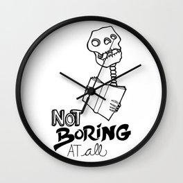 Not boring at all Wall Clock