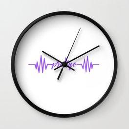 Womens Baby Heartbeat Pro Life Gift Print Anti Abortion Tee Wall Clock